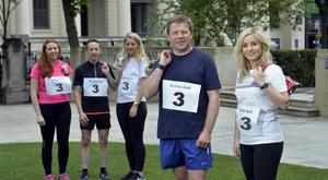 From left: Megan Lyness, John Vallely and Catherine Green, who are members of Ulster Bank's race teams, and Kenton Hilman, head of corporate banking with Grant Thornton NI marketing manager Hannah McHugh