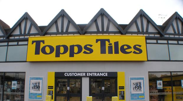 Topps Tiles said it was