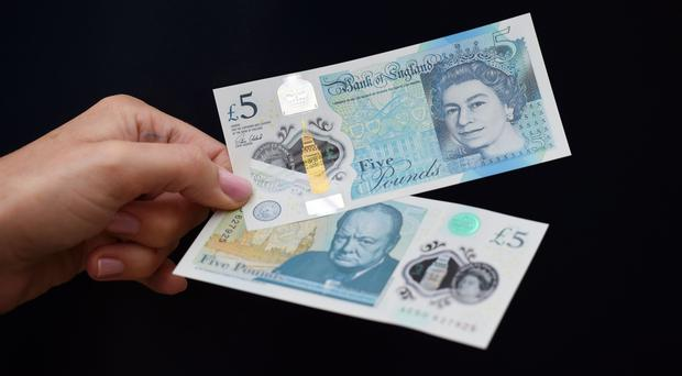 The firm makes the new polymer £5 note