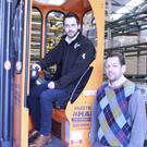 Ryan Smyth, SAP Business One consultant at FUEL, and Gary McNeil, managing director of Aluminium & Plastics Systemssaving