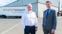 Thomas Allingham of Allingham Transport (left) with Andrew Gawley of Lisne