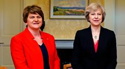 Arlene Foster with Prime Minister Theresa May last year