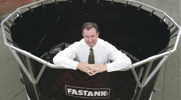 Seamus Connolly of Fast Engineering and the Fasttank storage containers which are used throughout the world