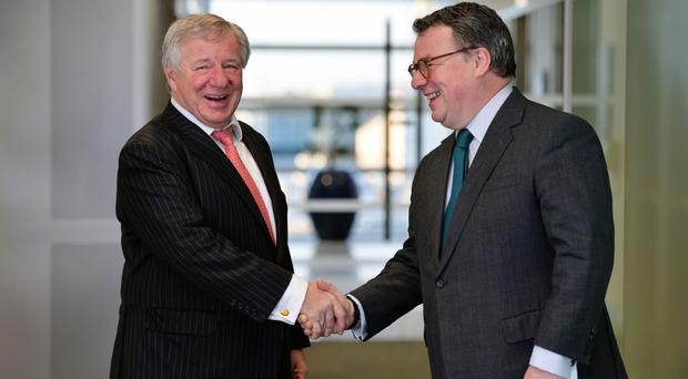 Keith Skeoch, Standard Life boss (right), and Martin Gilbert, Aberdeen Asset Management chief, will head up the enlarged company