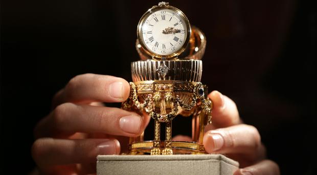 A Faberge Egg on display