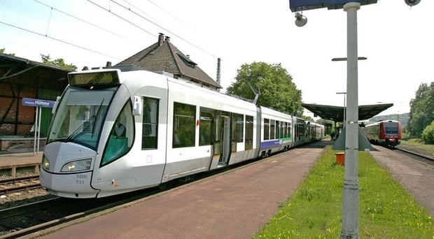 A tram-train system in Kassel, Germany, which is hoped can be replicated in South Yorkshire.