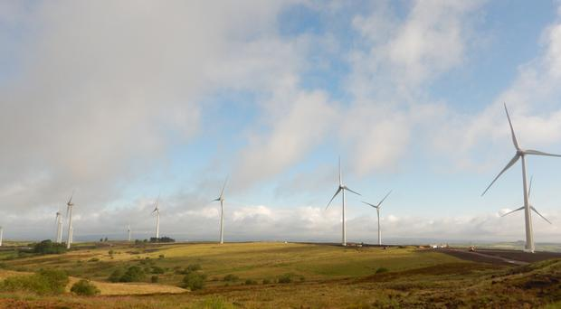 Slieve Divena II wind farm near Ballygawley in Co Tyrone