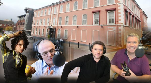 Havelock House's long-term occupants UTV and U105 leave next year. U105, whose presenters include (from left) Carolyn Stewart, Frank Mitchell, Maurice Jay and Johnny Hero, will join UTV at City Quays 2