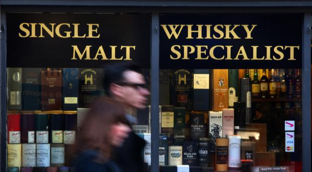 Excise and VAT on an average-priced bottle of Scotch in the UK is 79%