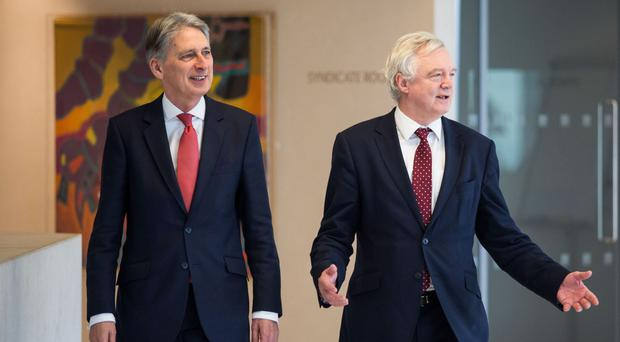 Chancellor Philip Hammond with Brexit Secretary David Davis