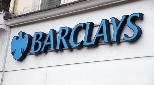 Shares in Barclays were down 4p to 205.1p