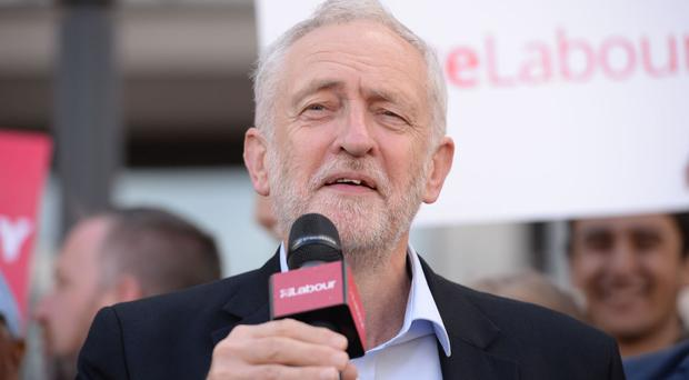 Jeremy Corbyn campaigning in Telford in the General Election - he is returning to the town for a summer visit