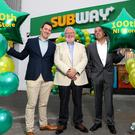 Development agents Adam Heyes, Paul Heyes and Neil Black outside the new store