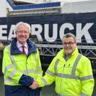 Warrenpoint Harbour's Peter Conway (left) and Seatruck's Alistair Eagles