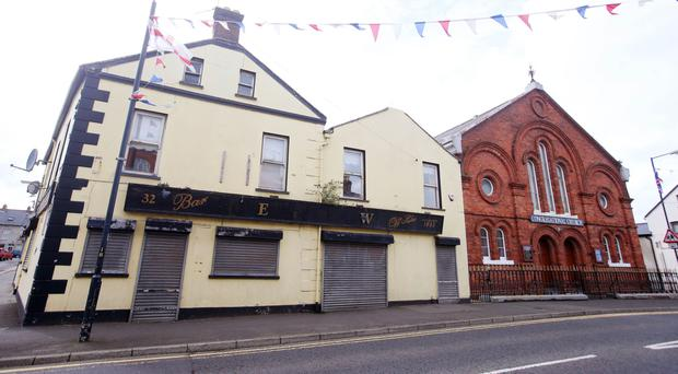 The former Rose and Crown pub in Carrickfergus
