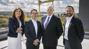 From left: Jayne Brady, Kernel Capital Partner, Alan Foreman, B-Secur CEO, Colin Anderson OBE, B-Secur Chairman and Andrew Sloane, Accelerated Digital Ventures (ADV)