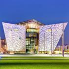 The Titanic Belfast attraction is one of the buildings in the Titanic Quarter