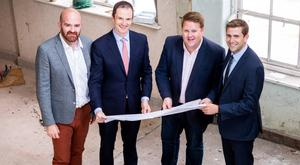 Mike Fetherston of Fetherston Clements, Robert Mulligan and Shane Woods from Portland Property Group and Will Miscampbell, Fetherston Clements