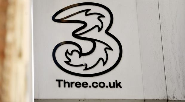 Telecoms firm Three reported a rise in customer numbers