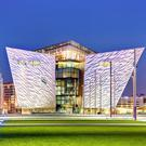 The Iconic Titanic Belfas is one of the buildings in the Titanic Quarter