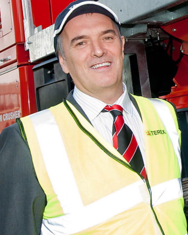 Kieran Hegarty, materials processing president of Terex
