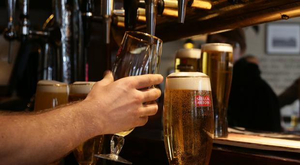 Mr Loughrey said there are 170,000 local adults drinking at hazardous levels, and a further 47,000 drinking at harmful levels (stock photo)