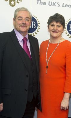 Wilfred Mitchell from the Federation of Small Businesses with Minister Arlene Foster