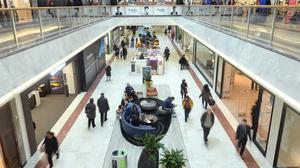 September's footfall in shopping centres was reported down by 0.9% on a year ago