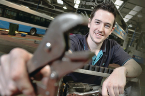 Gavin McManus has urged others to benefit from apprenticeships just as he has done after Translink signed up to our 60 Jobs in 50 Days campaign Aaron McCracken