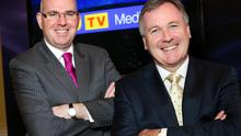 Michael Wilson (left), managing director of UTV Television, and John McCann, group chief executive of UTV Media,