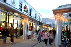 Shoppers at Junction One, just outside Antrim, over Christmas
