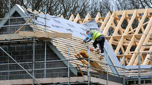 The report said that despite the uncertain business outlook for the sector, overall demand was resilient for housebuilding and infrastructure projects last month