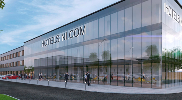 An artist's impression of the hotel proposed for Newtownabbey