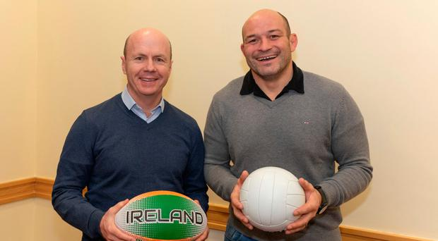 Peter Canavan and Rory Best at the panel event launch