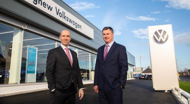 Franchise director Brian Robinson with sales director Gerry Mulholland