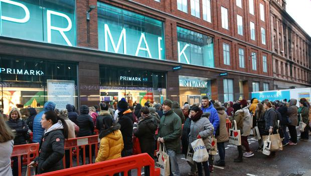 Crowds standing by for the opening of Belfast's new Primark last month