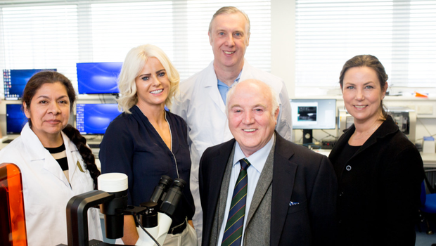 From left: Dr Patricia Rodriguez, Prof Tara Moore, Dr Paul Thompson, Terry Cross and Caroline Armstrong