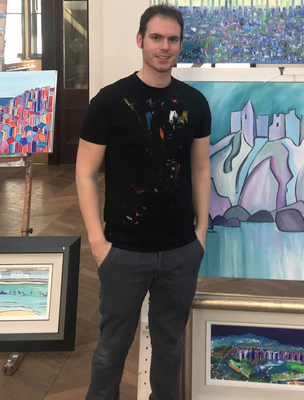 Artist Adrian Margey at his Portrush gallery