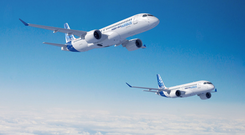 The Airbus A220 100 and 300 models