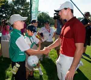 Rory McIlroy meeting Traden Karch