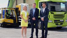 From left: business manager Michelle Wilson, Robert McCullough, head of Belfast business centre at Danske Bank, and Mark Adamson, managing director of Asap Cargo