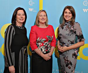 From left: Jayne Taggart, CEO of Causeway Enterprise Agency, Roseann Kelly and host Sarah Travers at the Female Entrepreneurs Conference