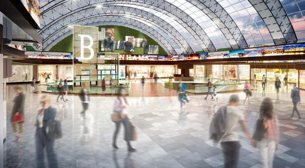 An artist's impression of the centre after the redevelopment