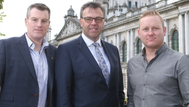 From left, Danel Mackey, Alastair Hamilton and Peter Coppinger