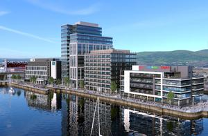An artist's impression of how City Quays 3 will look