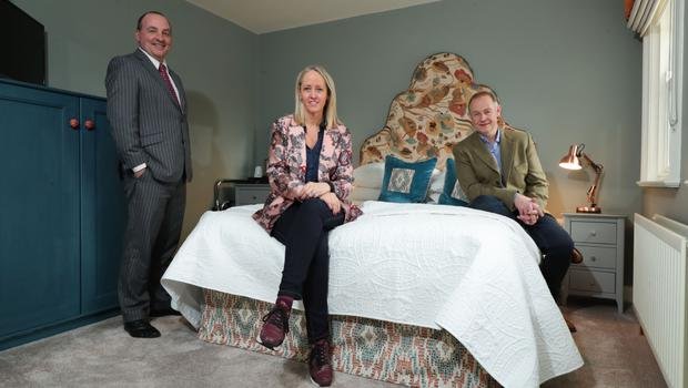 Derick Wilson of Ulster Bank, with Lynne and Jonathan McCabe