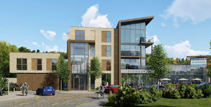 An artist's impression of plans for the retail and apartments scheme which will be renamed The Village in Carryduff