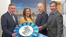 From left, Alan Crowe of Ulster Agricultural Society with Ulster Bank's Gabi Burnside, Richard Ramsey and Cormac McKervey at a breakfast event ahead of next month's Balmoral Show