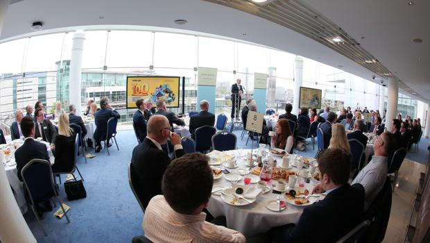 The publication was presented to the business world at a high-profile breakfast event at Waterfront Hall in Belfast