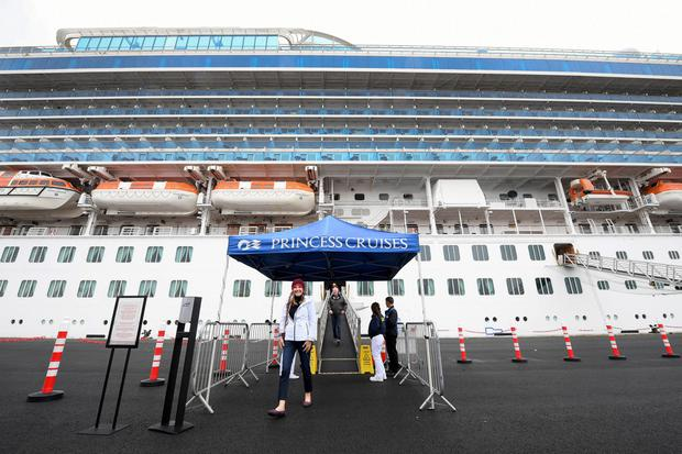 Crown Princess passengers were first to use terminal